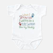 HVAC Technician Like Daddy Infant Bodysuit