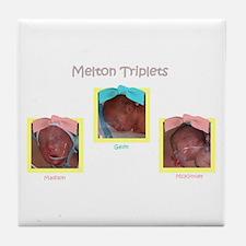 Triplets Pic Tile Coaster