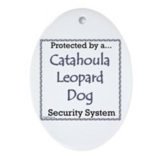 Catahoula Security Oval Ornament