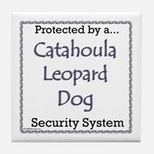 Catahoula Security Tile Coaster