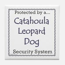 Catahoula Security Tile Coaster