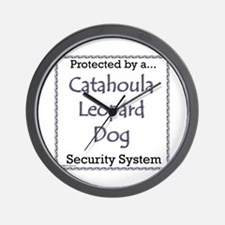 Catahoula Security Wall Clock