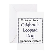 Catahoula Security Greeting Card