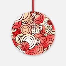 Layered random circles Round Ornament