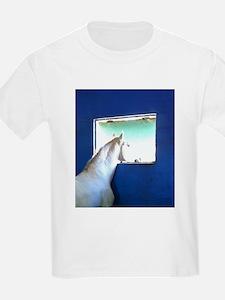 White Horse Blue Window T-Shirt
