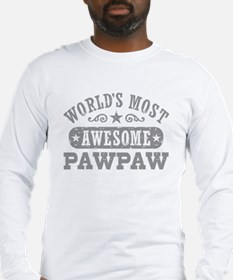 World's Most Awesome PawPaw Long Sleeve T-Shirt