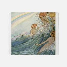 Mermaids - Sea Fairies Throw Blanket