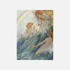 Mermaids - Sea Fairies 5'x7'Area Rug
