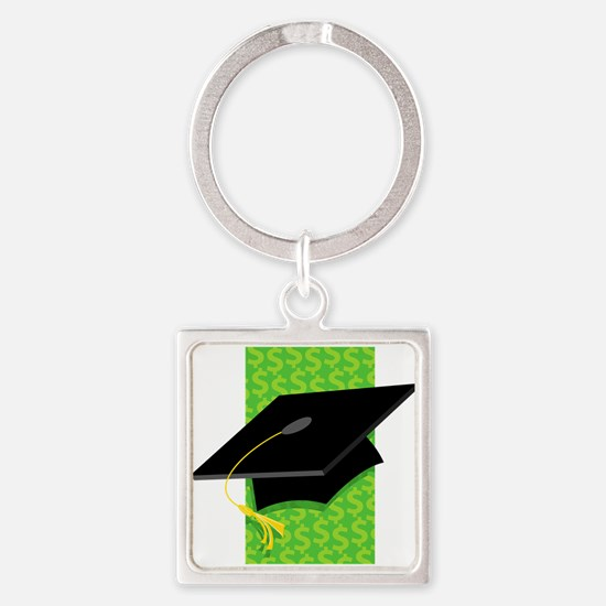 Cap with Money Background.png Keychains