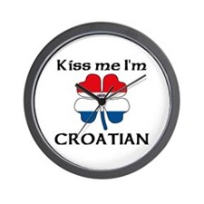 Kiss Me I'm Croatian Wall Clock