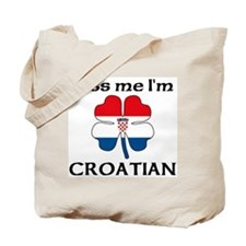 Kiss Me I'm Croatian Tote Bag