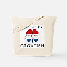 Kiss Me I'm Croatian Tote Bag
