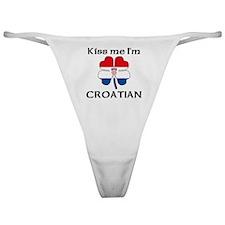 Kiss Me I'm Croatian Classic Thong