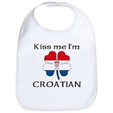 Kiss Me I'm Croatian Bib