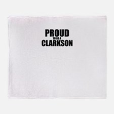 Proud to be CLARKSON Throw Blanket