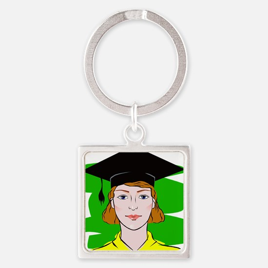 Serious Graduate Keychains