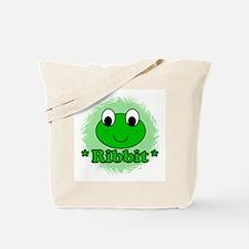 Green Frog Ribbit Tote Bag