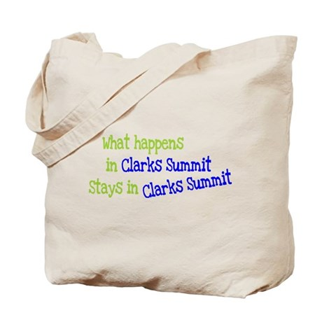 What Happens In Clarks Summit Tote Bag