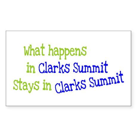 What Happens In Clarks Summit Sticker (Rectangular