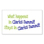 What Happens In Clarks Summit Sticker (Rectangular
