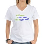 What Happens In Clarks Summit Women's V-Neck T-Shi