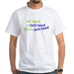 What Happens In Clarks Summit White T-Shirt