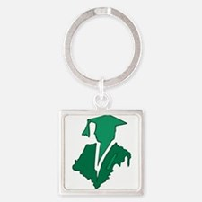 Green Sihlouette Keychains