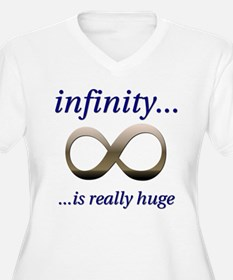 Infinity is Really Huge Plus Size V-Neck T-Shirt