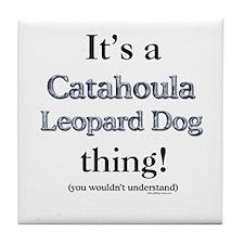 Catahoula Thing Tile Coaster