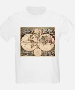Vintage Map of The World (1690) T-Shirt