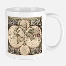 Vintage Map of The World (1690) Mugs