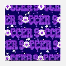 Soccer Girls Tile Coaster