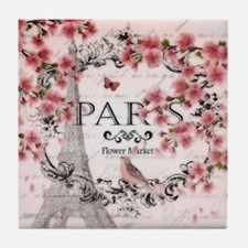 Paris spring Tile Coaster