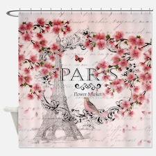 Paris spring Shower Curtain