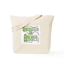 Green Honeymoon Aruba Tote Bag