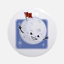 Flag on the Moon Ornament (Round)