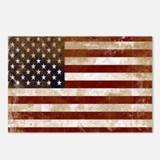Distressed American Flag2 Postcards (Package of 8)