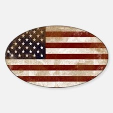 Distressed American Flag2 Decal
