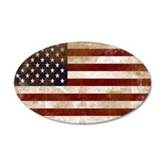 Distressed American Flag2 Wall Decal