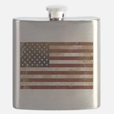 Distressed American Flag2 Flask