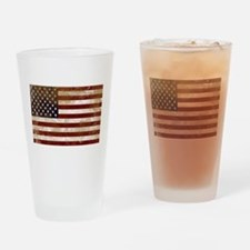Distressed American Flag2 Drinking Glass