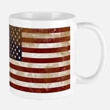 Distressed American Flag2 Mugs