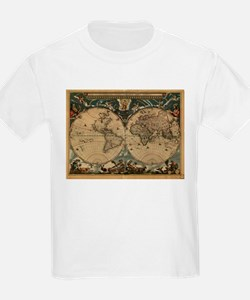 Vintage Map of The World (1664) T-Shirt