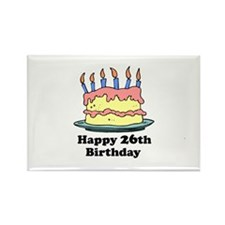 Happy 26th Birthday Rectangle Magnet