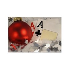 Pair Of Aces Rectangle Magnet (100 pack)