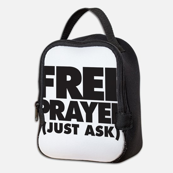 Free Prayer (on light) Neoprene Lunch Bag