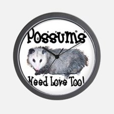 Possums Need Love Wall Clock