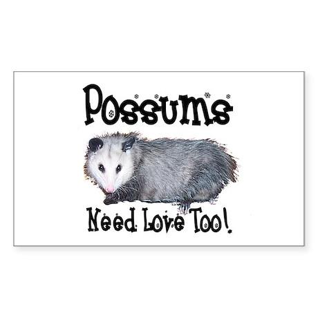 Possums Need Love Rectangle Sticker