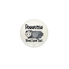 Possums Need Love Mini Button (10 pack)