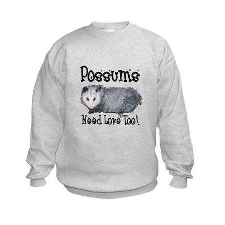 Possums Need Love Kids Sweatshirt